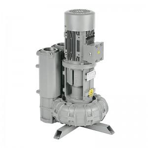 Soffiante aspiratore in esecuzione in asse verticale con lanterna e giunto elastico